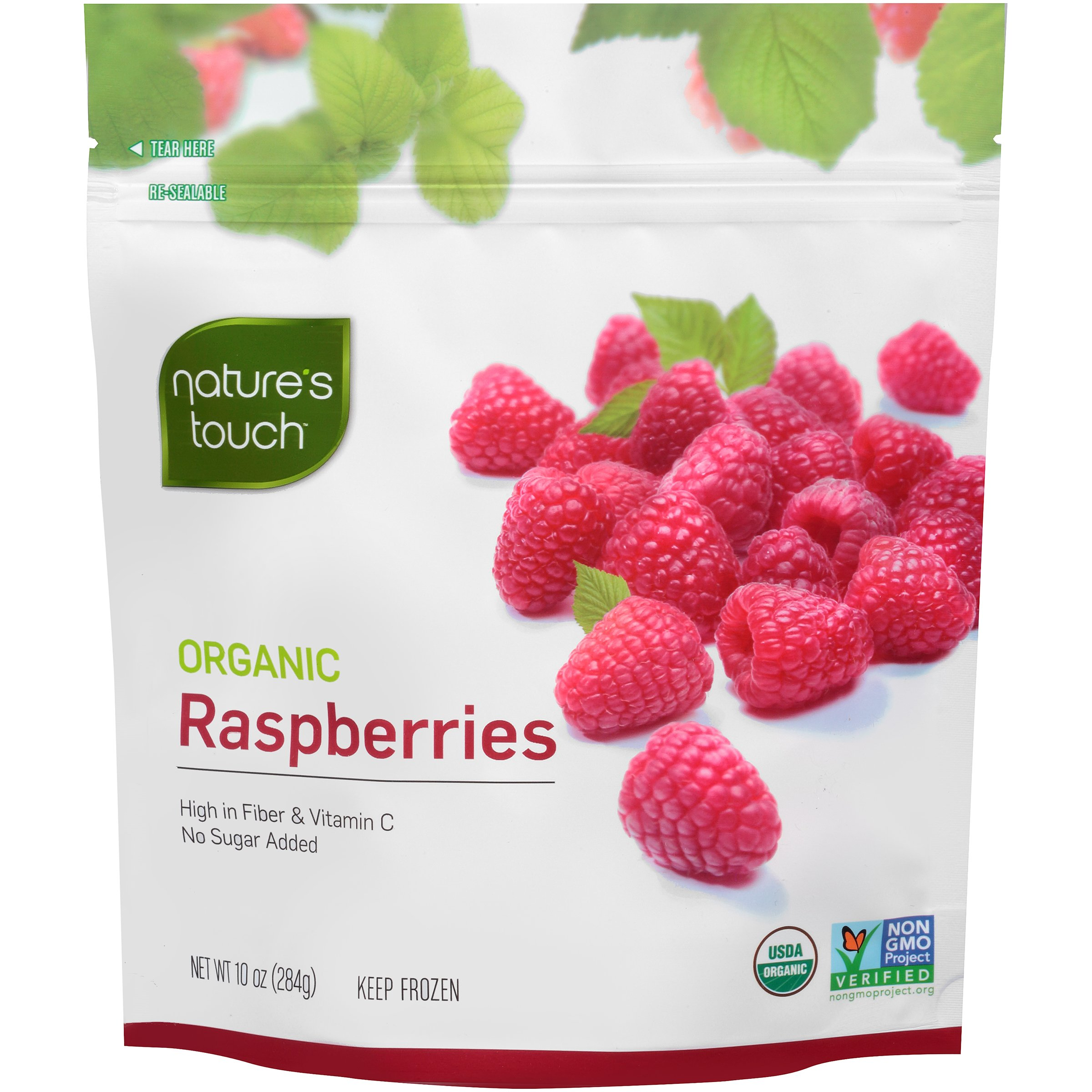 Nature's Touch Organic Fruits, Raspberries 10 oz. (8 Count)