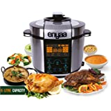 Enyaa 17-in-1 Multi-functional Electric Pressure Cooker 6L /1000W Stainless Steel Cooking Pot Digital Rice/steamer/fryer/Slow Cooker,fryer 10 Proven Safety Mechanisms plus 3 (5 liter)
