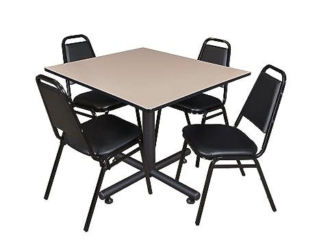 Amazon.com: Regency Kobe 48-Inch Square Breakroom Table, Beige, and ...