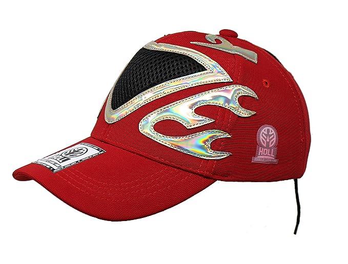 TINIEBLAS Lucha Libre Adult Unisex Stretch Fit Hat Wrestling Cap (Red)