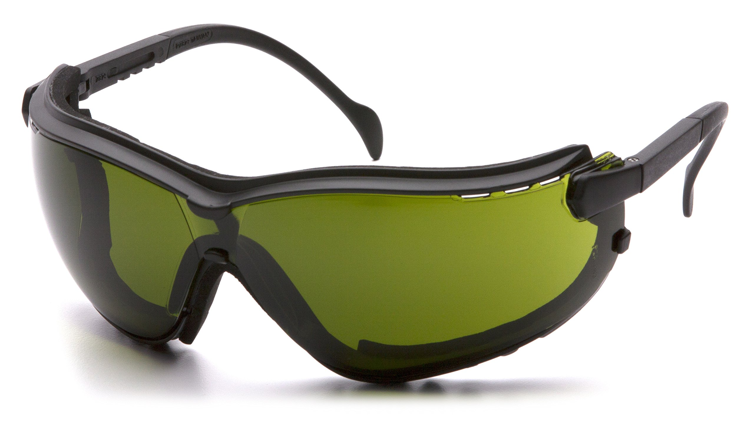 Pyramex V2G Safety Glasses, Black Frame/3.0 IR Filter Lens