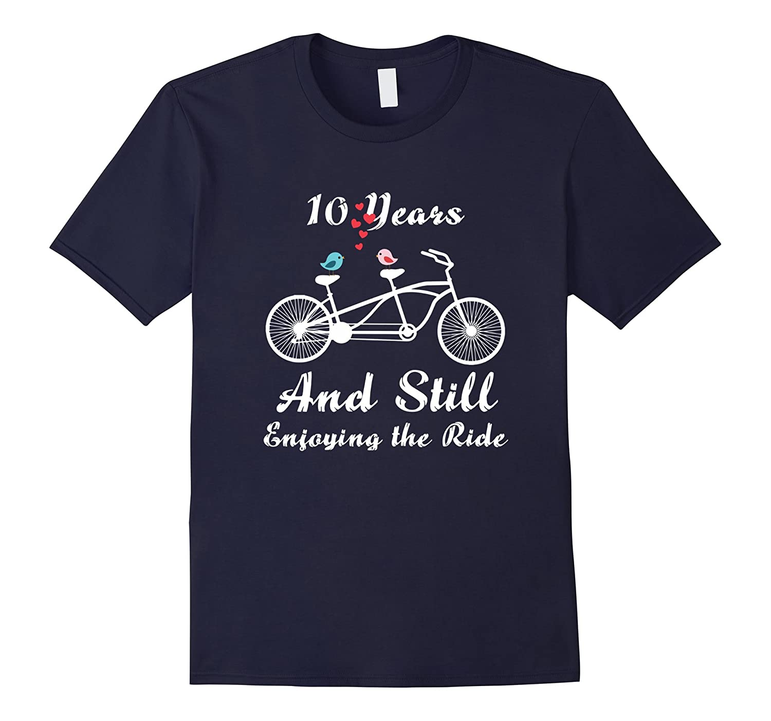 10th Wedding Anniversary T-Shirt - 10 Years Marriage Gift-TH