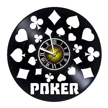 Amazon.com: Toffy Workshop Poker Casino – Reloj de pared de ...