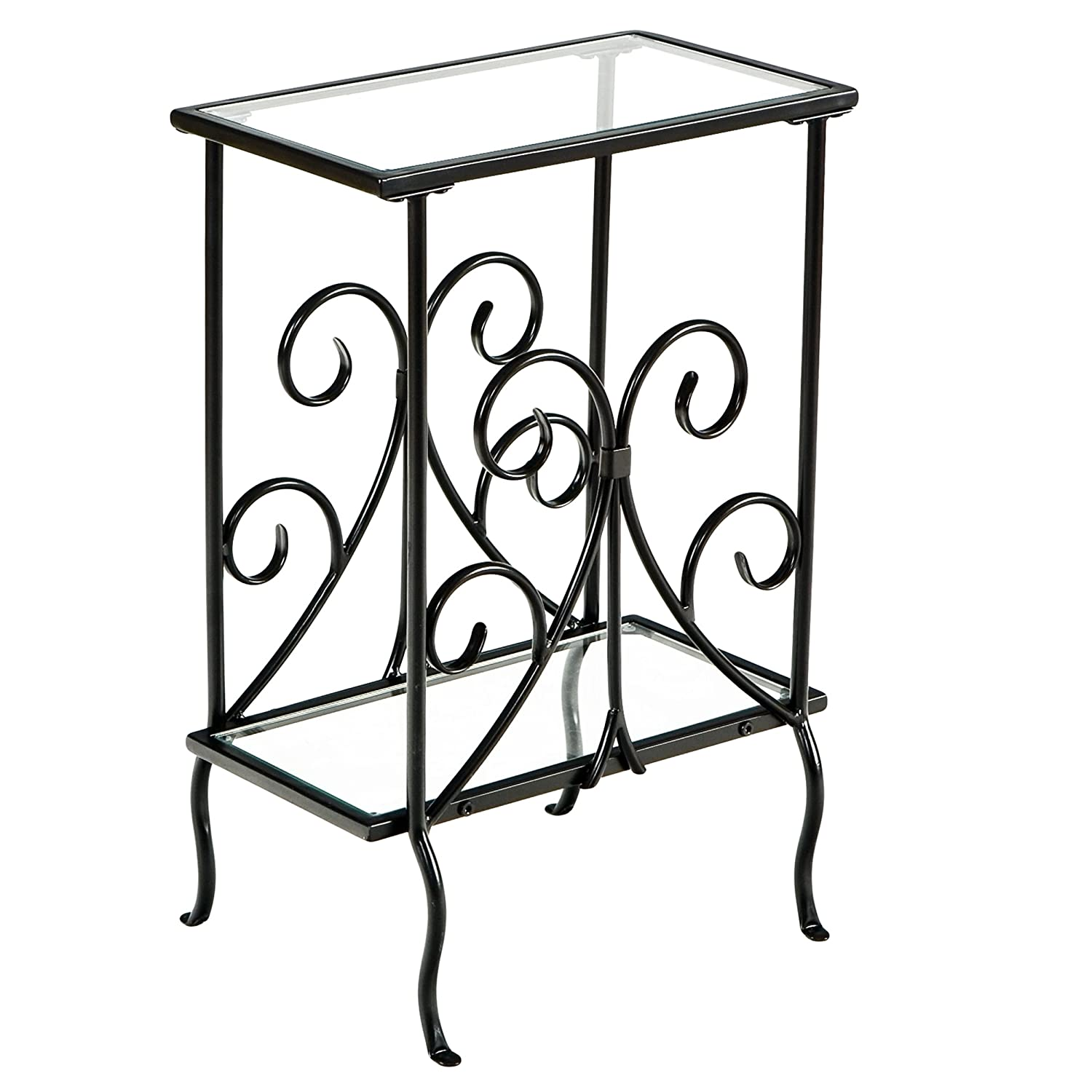 Southern Enterprises Decorative Metal Magazine Table Inc. OC1349