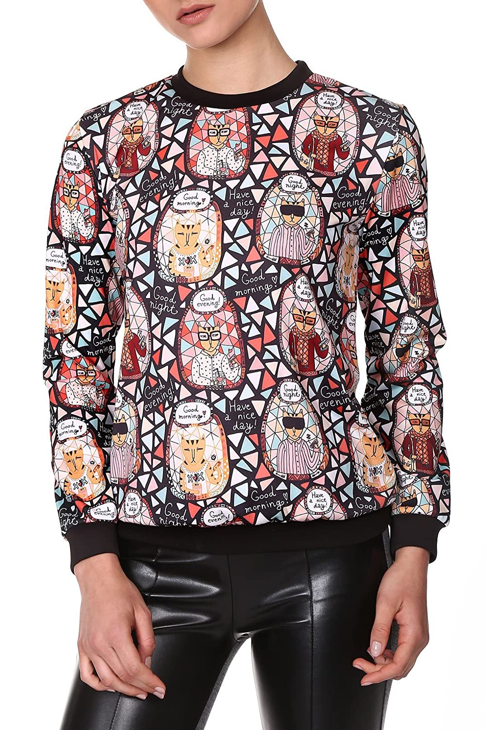 RED Isabel Damen Laana Cat Print Blouson