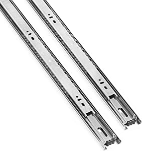 Tahlegy 2 Pair of 14 Inch Full Extension Hardware Ball Bearing Drawer Slides, Include Screws
