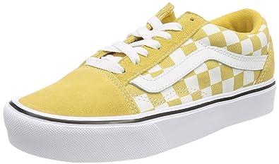 yellow vans checkerboard old skool