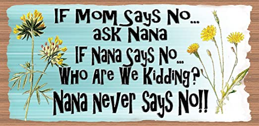 Nana Never Says No Baby Vests Gift If Mum Says No Ask Nana If Nana Says No....