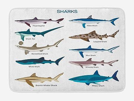 Un grand requin Open Tapis de bain antidérapant pour une utilisation intérieure pour le pied étape Enfants