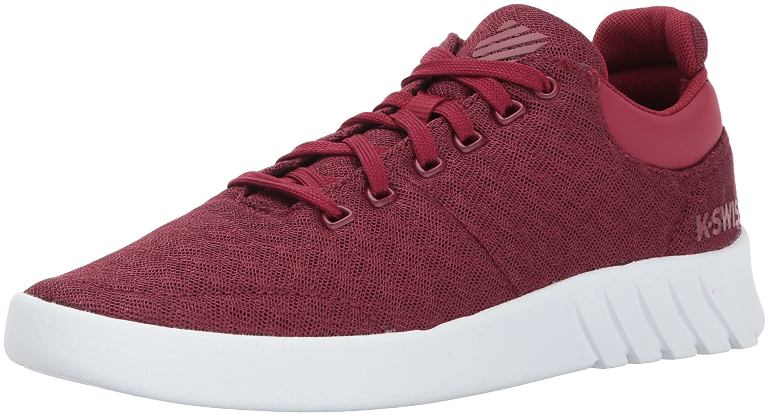 K-Swiss Women's Aero Trainer T Sneaker B01MYDZDYU 8.5 B(M) US|Tibetan Red/White