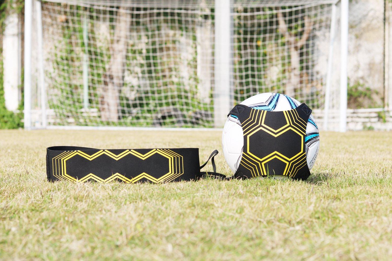 Fu/ßball-Trainingshilfe zur Verbesserung der Ballkontrollf/ähigkeiten Individuelle Fu/ßballtrainingsausr/üstung f/ür Erwachsene und Kinder, HandyPicks Fu/ßballtrainer