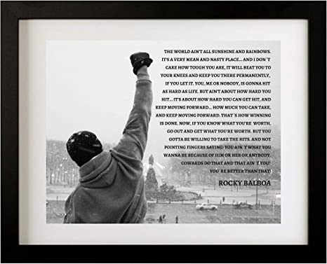 Art Silk Poster C0501 rocky-balboa-inspirational-motivational-film-movie-quote