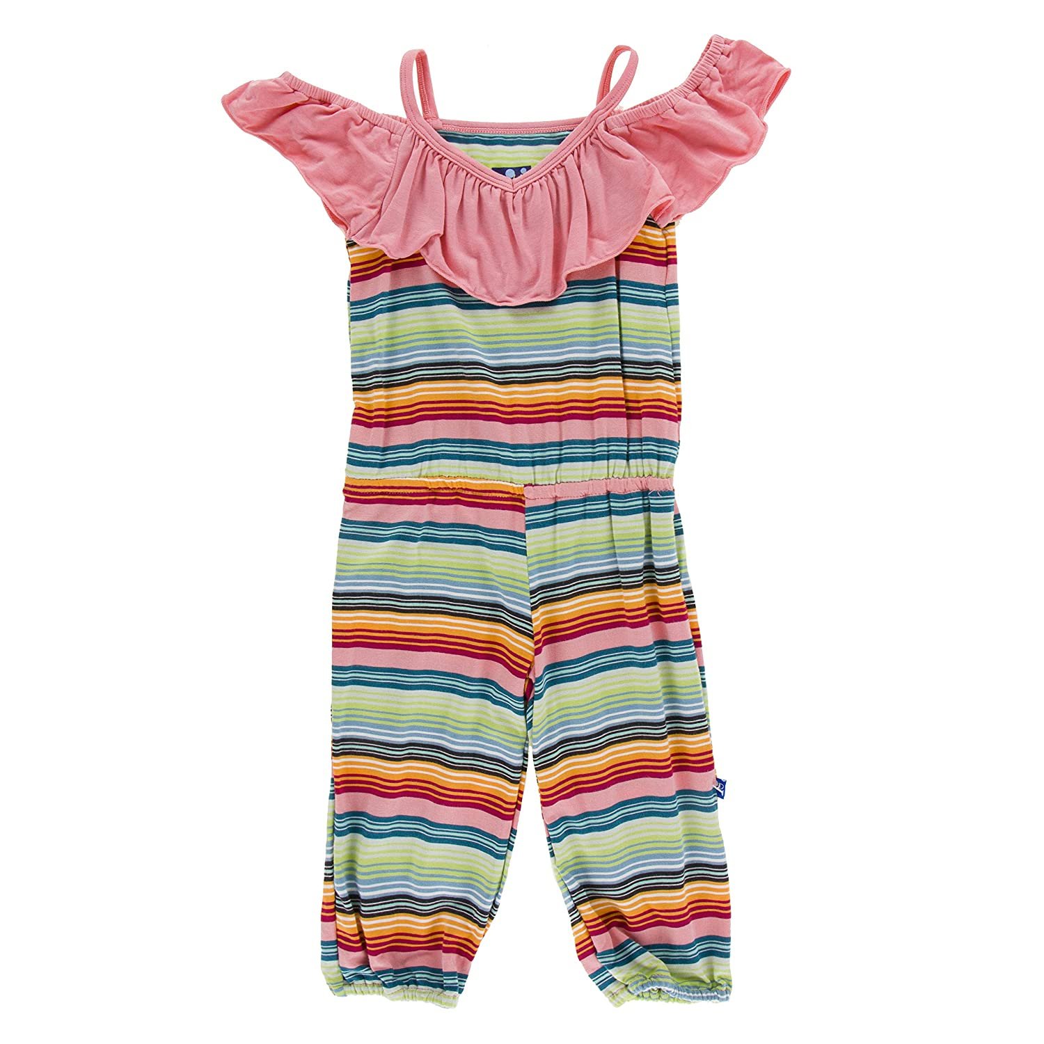 Cancun Strawberry Stripe - S-6//8 Kickee Pants Print Jumper