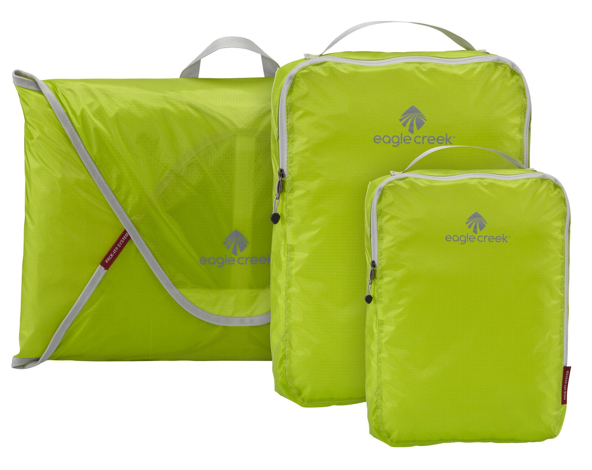 Eagle Creek Pack-It Specter Packing Organizer Starter Set , Strobe Green, Set of 3 by Eagle Creek