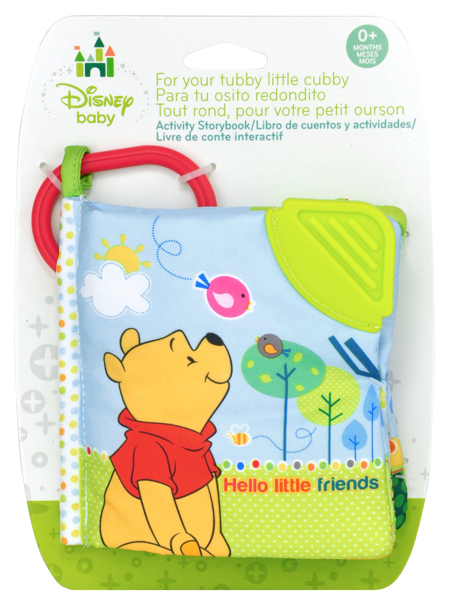 Disney Baby Winnie the Pooh Hello Little Friends On the Go Soft Teether Book, 5