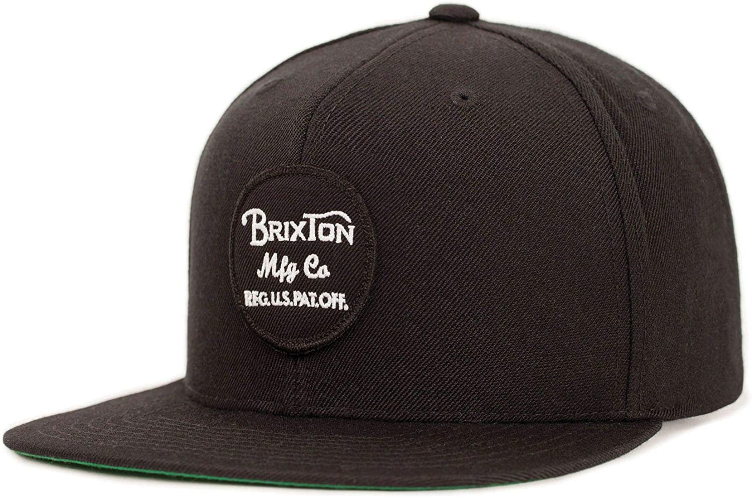Brixton Men's Wheeler Snapback Black: Clothing