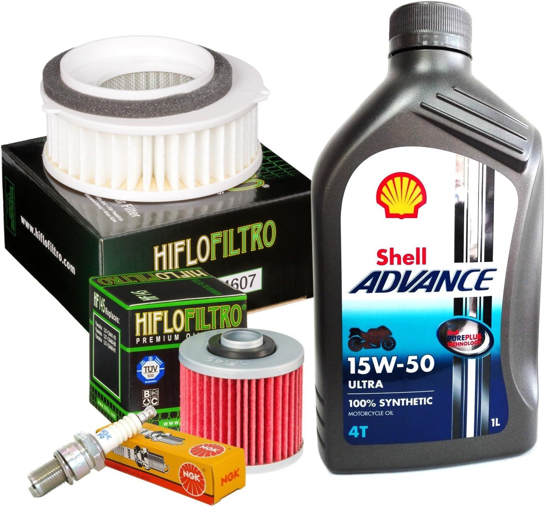 Gutschein Shell Ultra 15 W50 Filter Öl Luft Kerzen Yamaha Xvs 650 Drag Star Auto