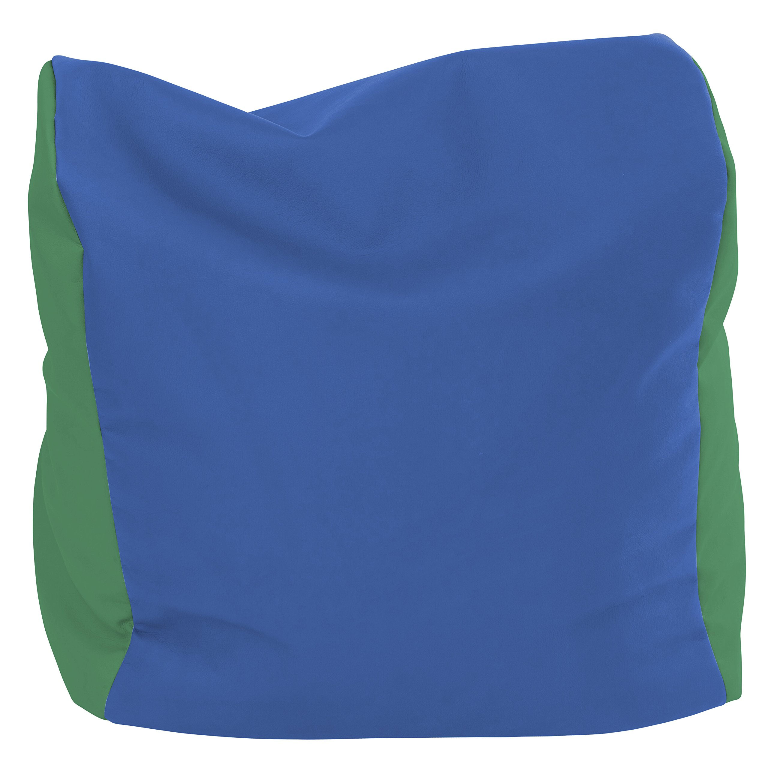 ECR4Kids SoftZone Youth Bean Bag Soft Seat, Blue and Green