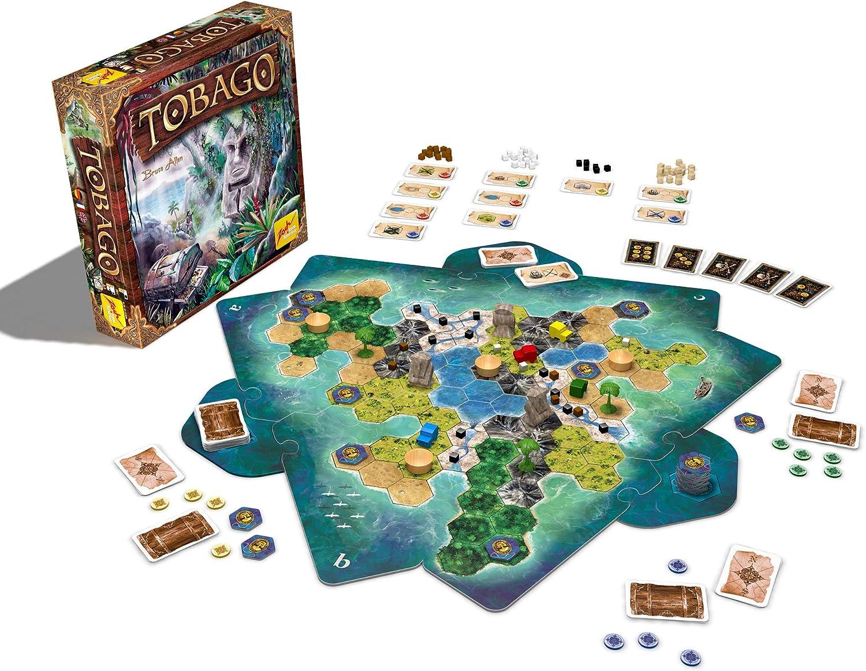 Zoch 601128400 Tobago - Juego de Mesa (Instrucciones en inglés, francés y alemán): Amazon.es: Juguetes y juegos