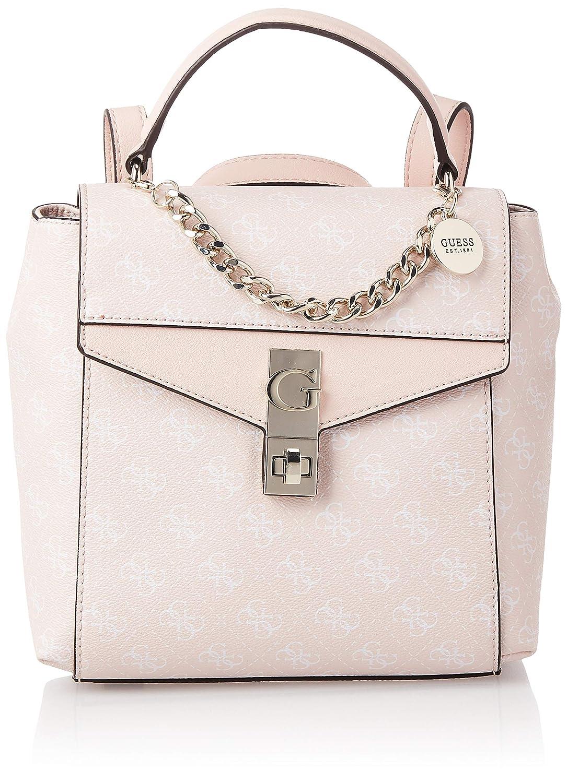 BORSA ZAINETTO GUESS donna ecopelle multicolor rosa bianco