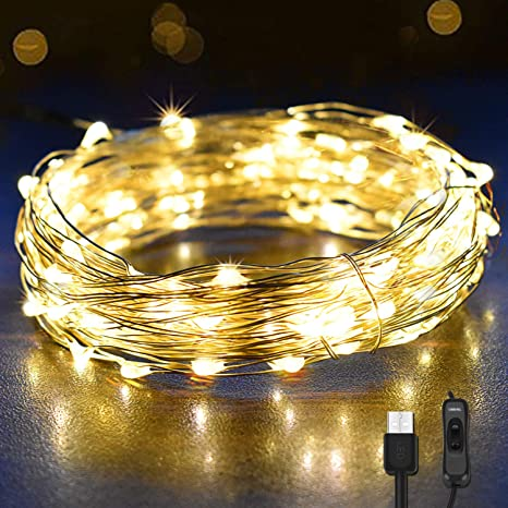 Cadena de Luces Navidad 12M 120 LEDs, OMERIL Guirnalda Luces con 1.5M Cable USB