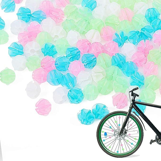 Set Assorted Shape Spoke Beads Bike Decoration Luminous Beads Bicycle Wheel