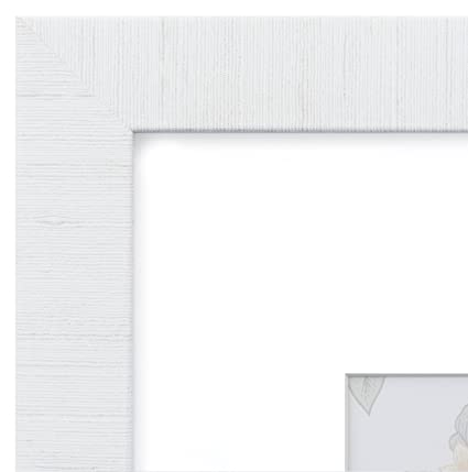 Amazon.com - Eco-home 18x24 Picture Frame Modern White - Matted for ...