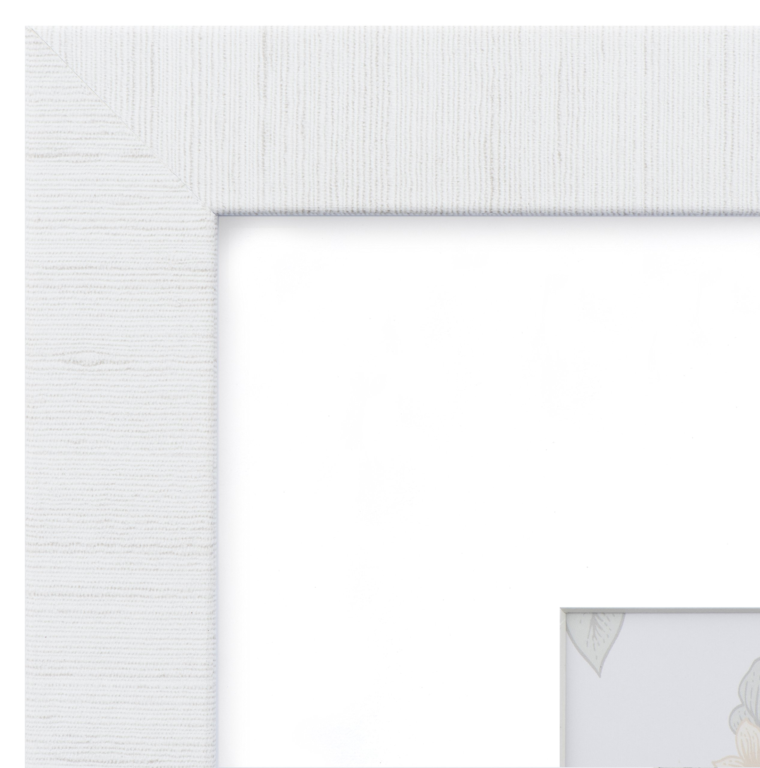 12x16 Picture Frame Modern White Matted For 8x12 Frames