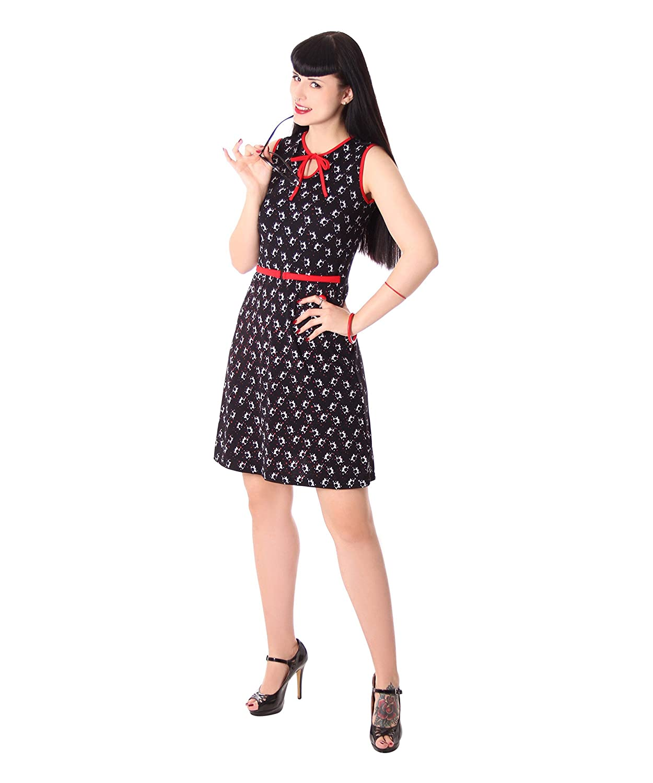 SugarShock Nazly 50er Jahre retro Pin Up Martiniglas Sommer Rockabilly Kleid Shirtkleid