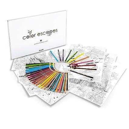 Amazon Com Crayola Color Escapes Coloring Pages Pencil Kit
