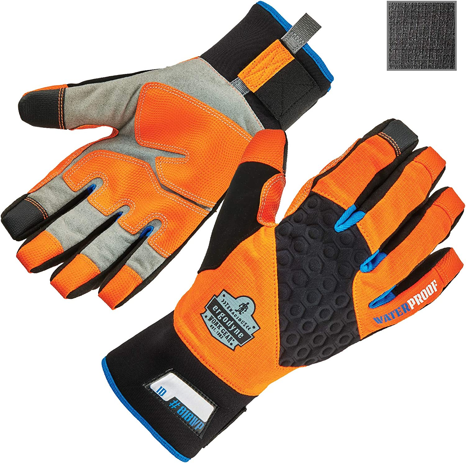 Waterproof Work Gloves, High Visibility, Thermal Insulated, Touchscreen, Enhanced Grip, Ergodyne ProFlex 818WP