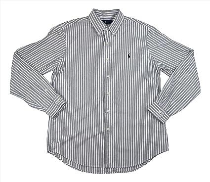 80028633f ... promo code polo ralph lauren striped standard fit long sleeve button  down shirt black white a7e46