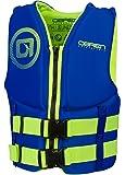 O'Brien Youth Traditinal Neoprene Life Jacket, 50-90lbs, Blue/Green