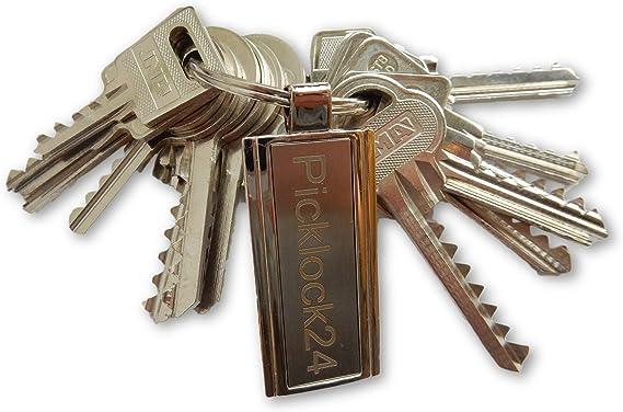 Picklock24. Juego de llaves maestras universales (bump keys - 13 ...