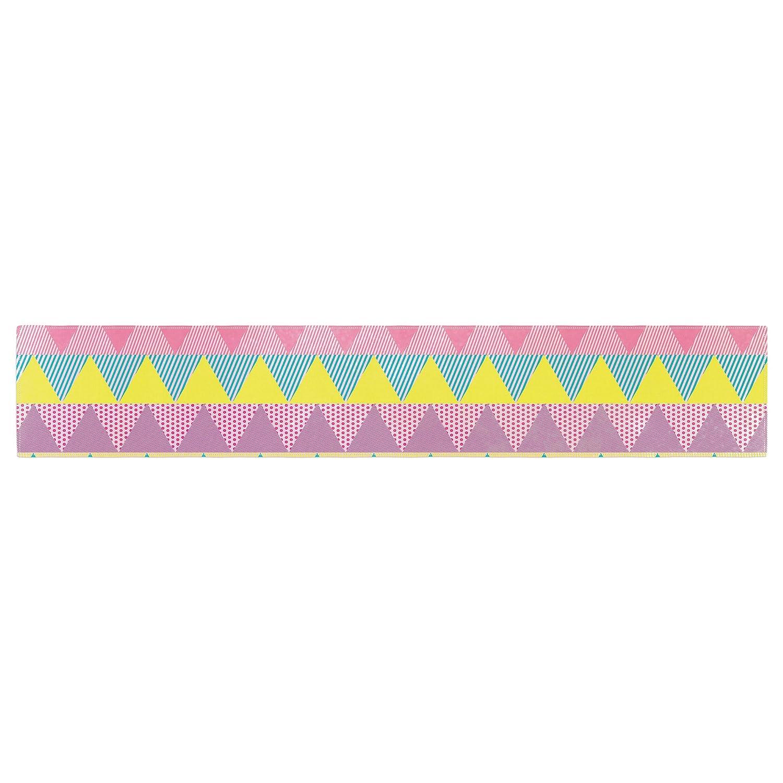 16 x 180 KESS InHouse Louise Machado Triangles Yellow Pink Table Runner
