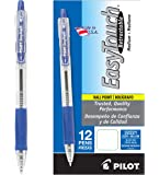PILOT EasyTouch Refillable & Retractable Ballpoint Pens, Medium Point, Blue Ink, 12-Pack (32221)