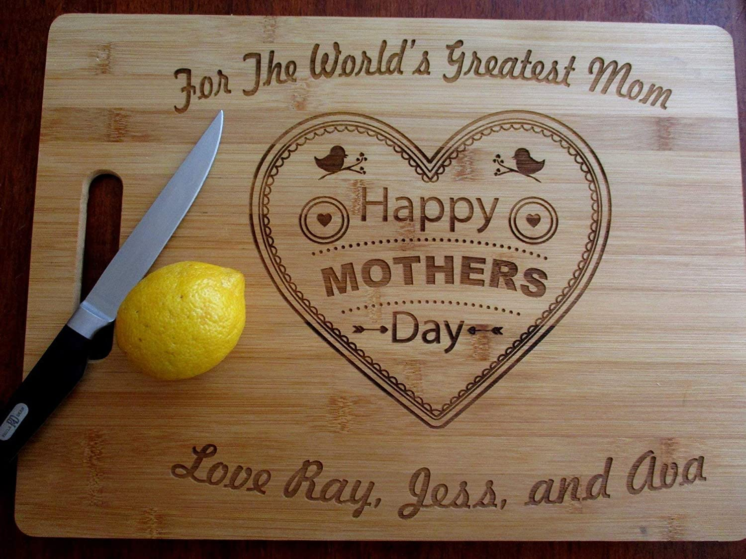 Laser Engraved Chopping Board Mothers Day Great gift! Board Funny Mother/'s Are..