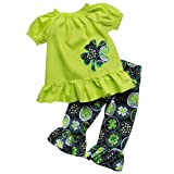 Amazon Price History for:So Sydney Girls Lucky Girl Green Shamrock ST. Patrick's Day 2 Pc Boutique Outfit
