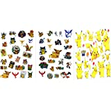 72 Temporary Pokemon Tattoos Pikachu Party Favors 3 Sheets