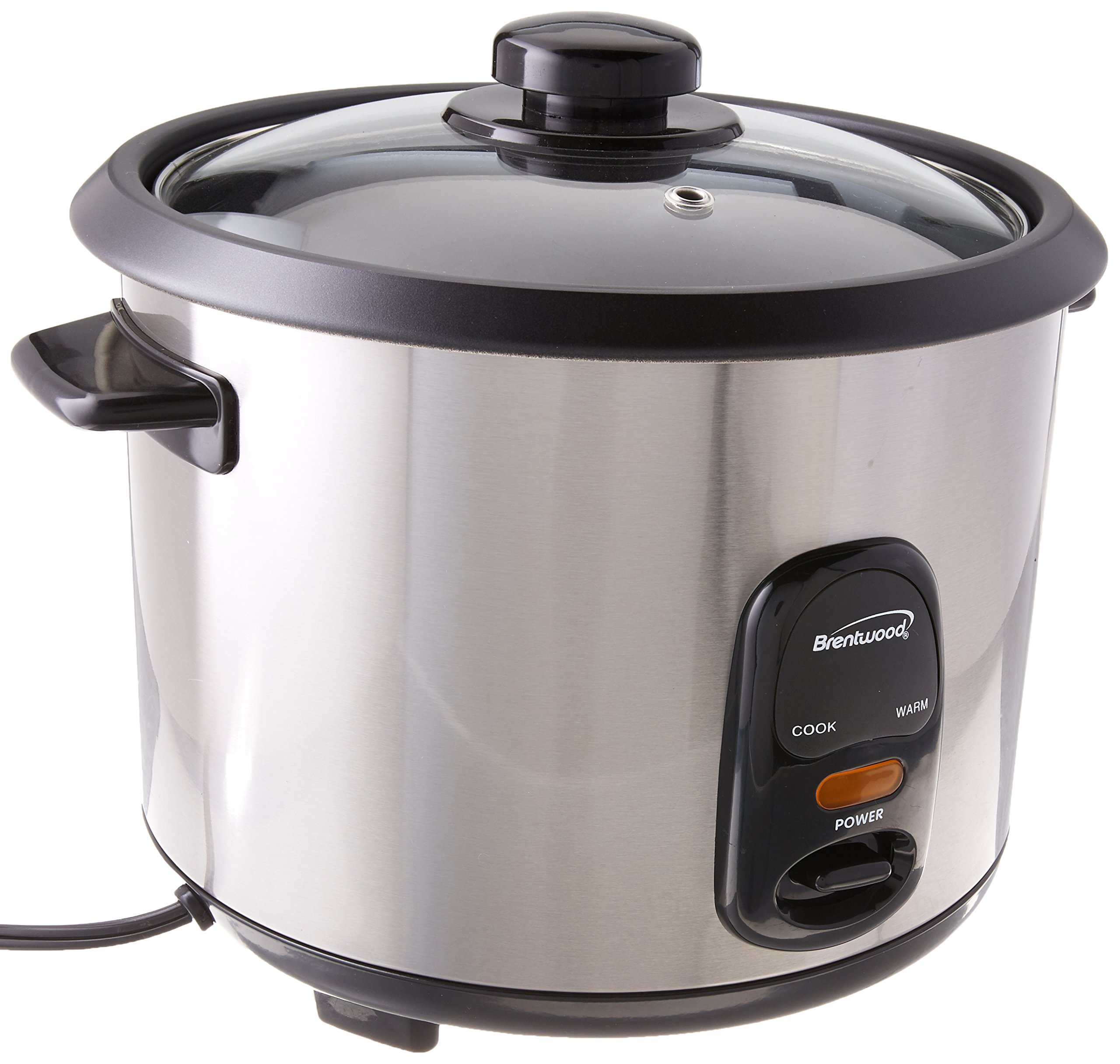 BRENTWOOD TS-20 Stainless Steel 10-Cup Rice Cooker - TWO YEARS