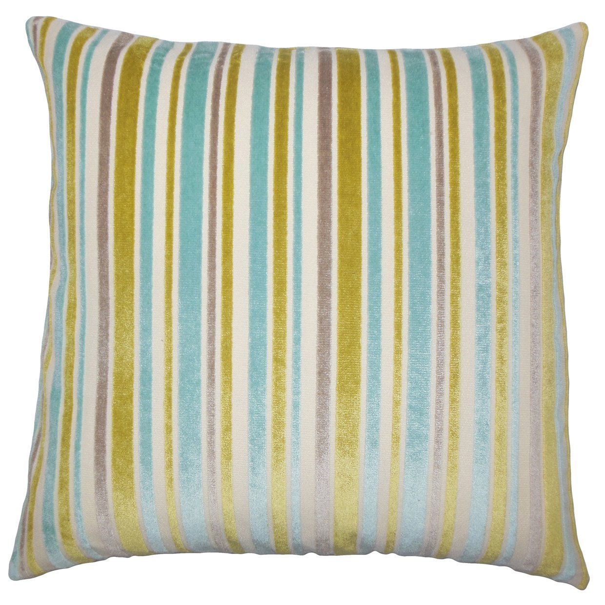 The Pillow Collection Lalana Striped Bedding Sham Caribbean King//20 x 36
