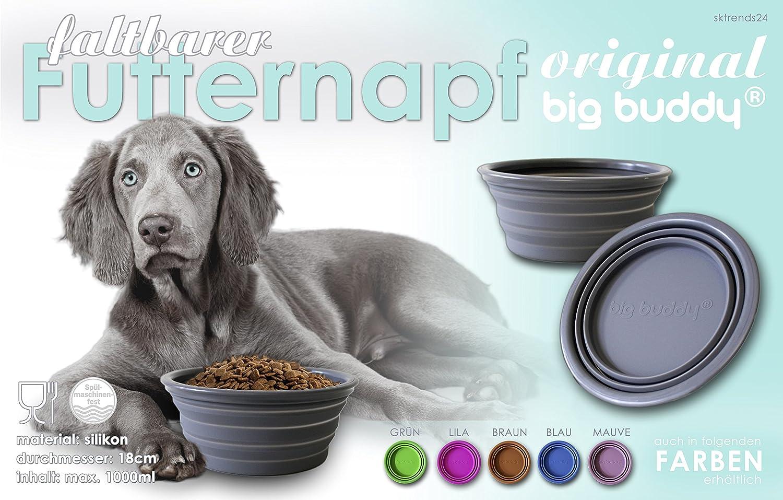 Gamelle /écuelle silicone pliable chat chien 1 L couleur lilas