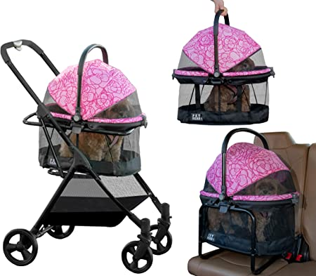 Pet Gear View 360 Pet Stroller Travel System 3-in-1 Carrier