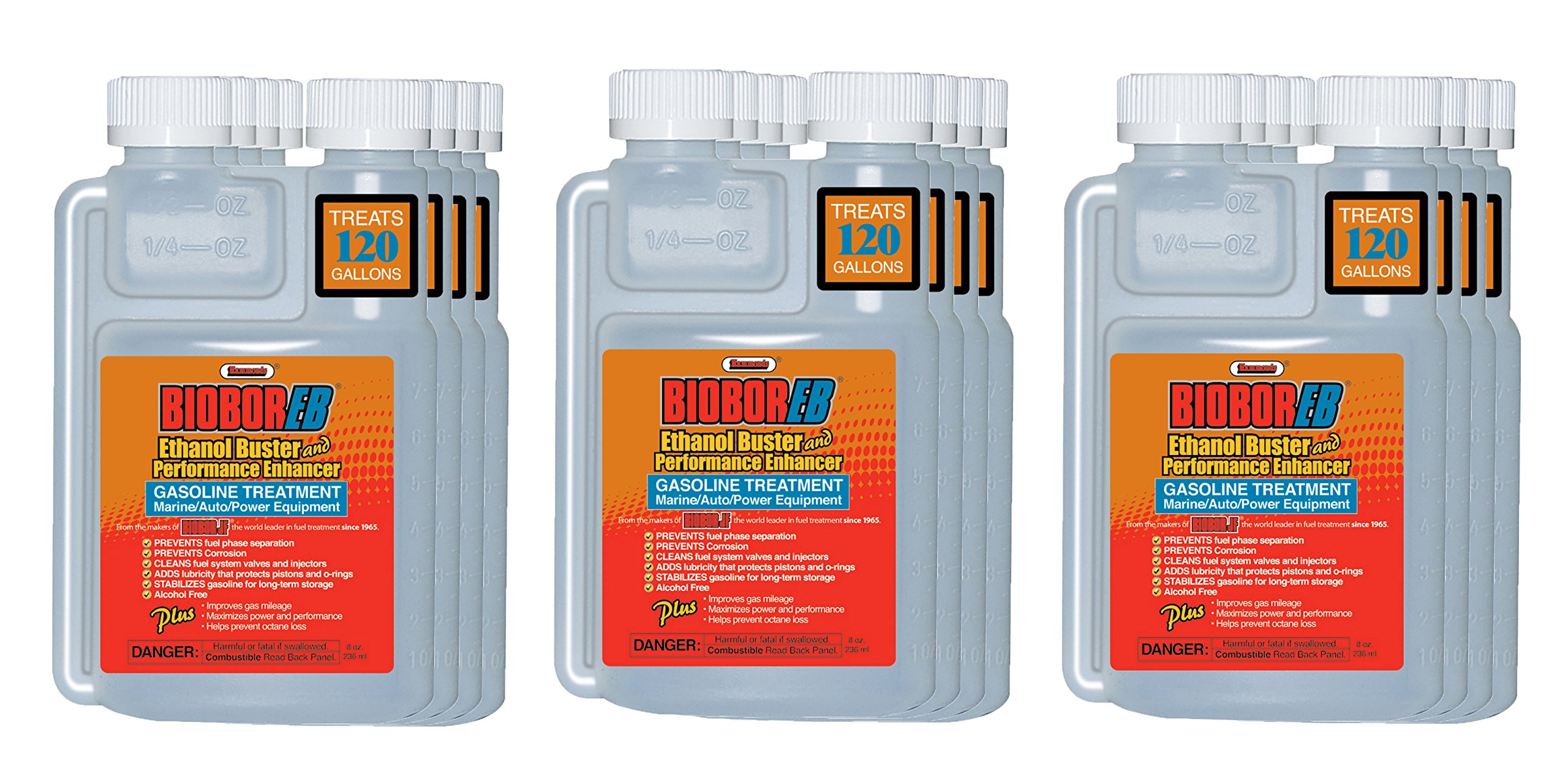 Biobor EB, Ethanol Buster and Performance Enhancer Gasoline Treatment, 8 oz, 12-Pack by Hammonds