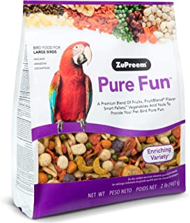 product image for ZuPreem Pure Fun Bird Food for Large Birds - Powerful Blend of Fruit, Natural FruitBlend Pellets, Vegetables, Nuts for Amazons, Macaws, Cockatoos