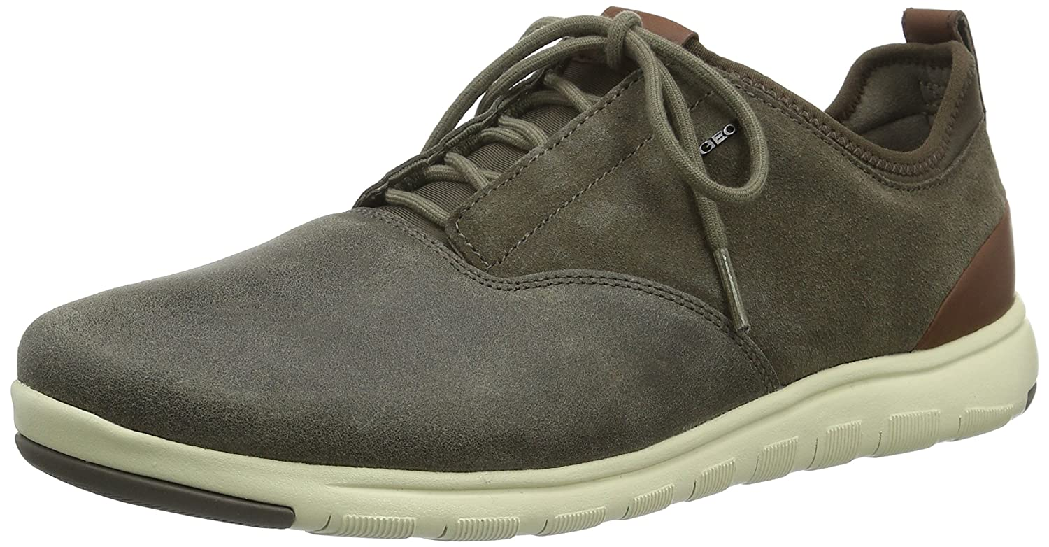 Geox UOMO DYNAMIC Marron - Chaussures Baskets basses Homme
