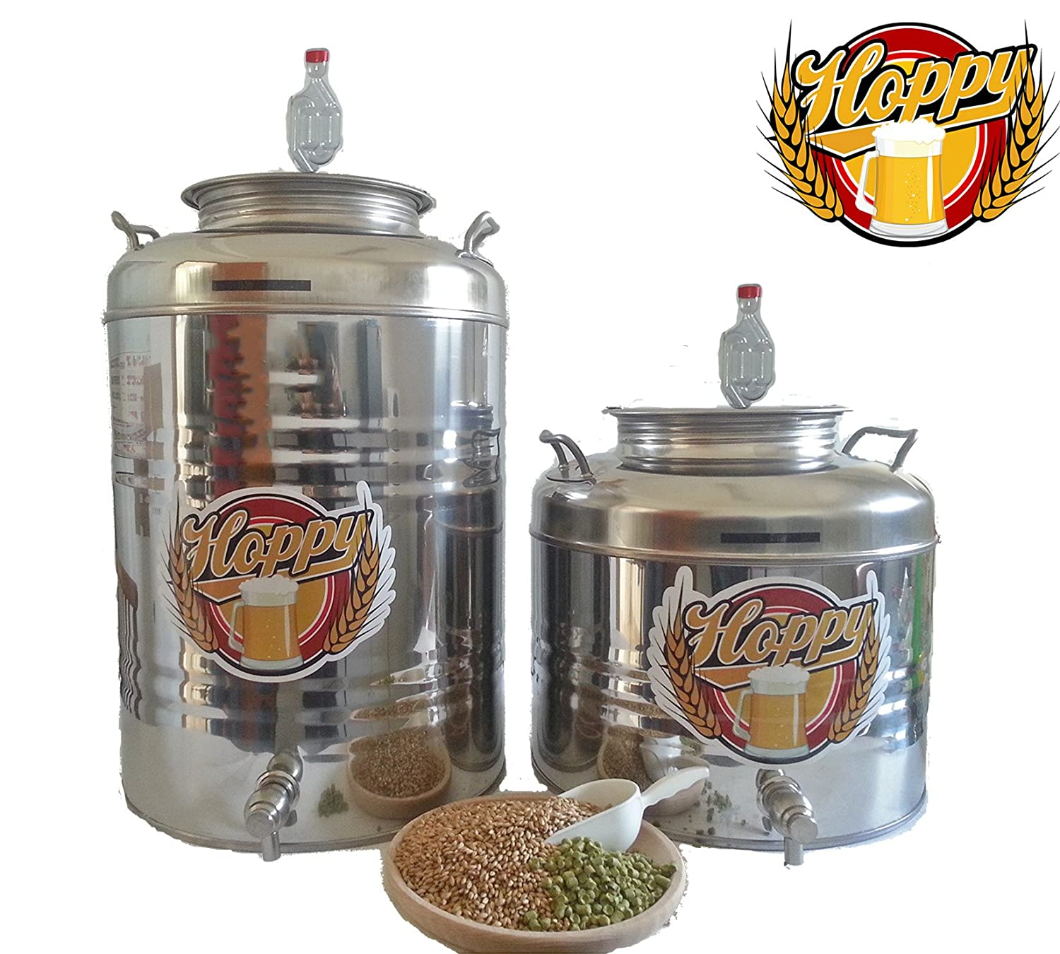 Hoppy 7.5 GALLON STAINLESS STEEL FERMENTER TANK HOMEBREWING BREW BEER WINE CIDER