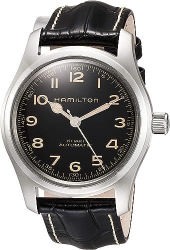 Amazon.com: Hamilton H70605731 Khaki Field Murph Auto Men's Watch Black  Leather 42mm: Watches