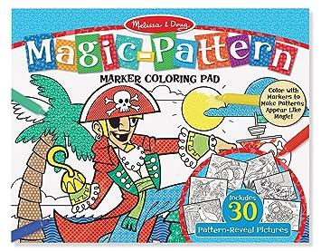 Amazon.com: Melissa & Doug Magic-Pattern Marker Kids\' Coloring Pad ...