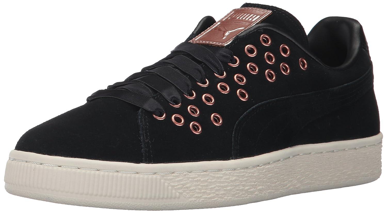 PUMA Women's Suede XL Lace VR Wn Sneaker B01MQWO70I 6.5 M US|Puma Black-puma Black